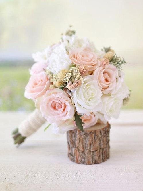 """Pink & White Rose"" Wedding Bouquet"