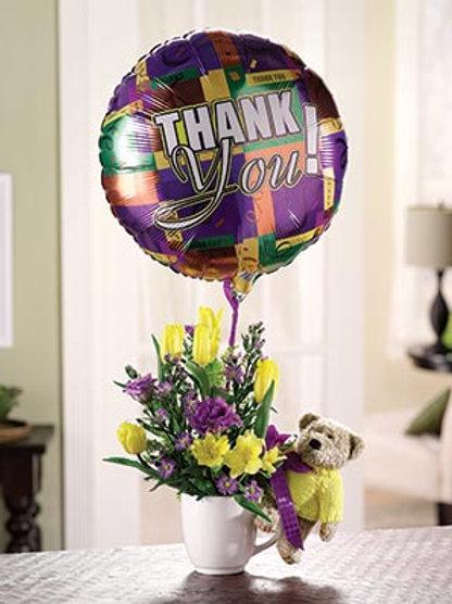 """Thanks a Bunch"" Bouquet W/Balloon"