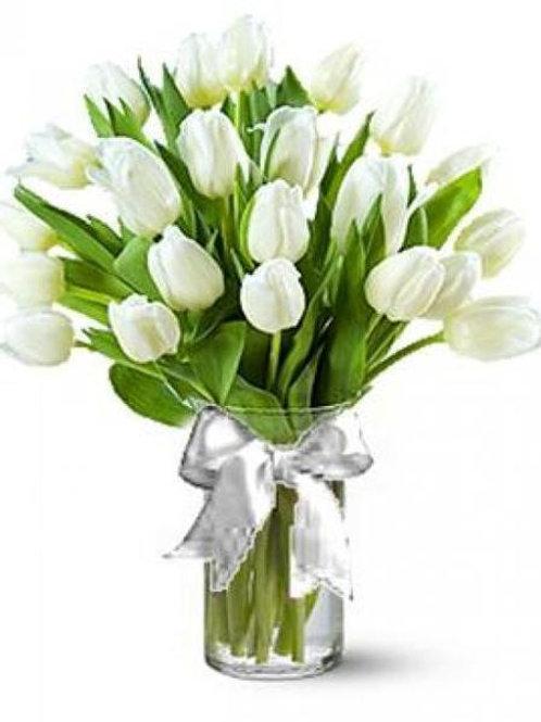White Tulip Bouquet