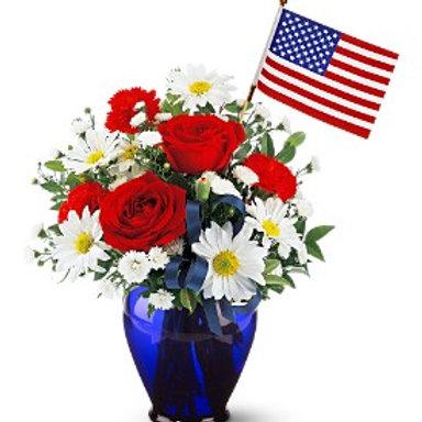 """""""Patriotic Blue"""" Bouquet"""
