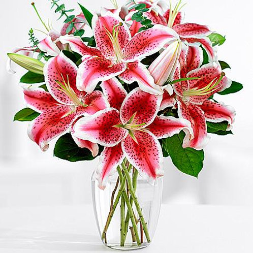 Pink & White Lilly Bouquet