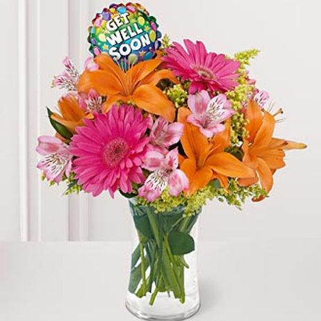 """""""Medley"""" Get Well Bouquet W/Balloon"""