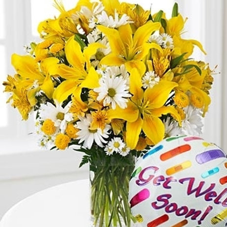 """Sunshine"" Get Well Basket W/Balloon"