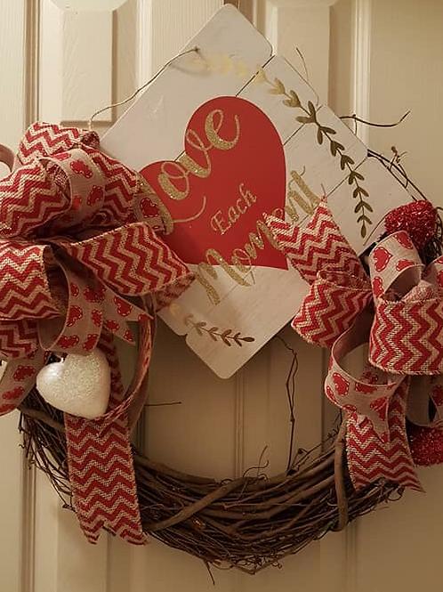 """Be Mine"" Wreath"