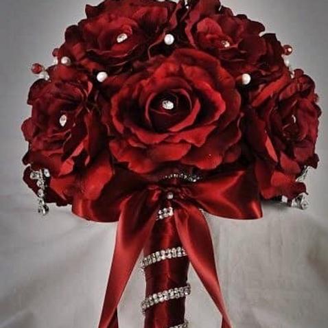 """""""Silk Studded"""" Rose Bouquet"""