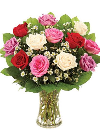 """Rose Medley"" Rose Bouquet"