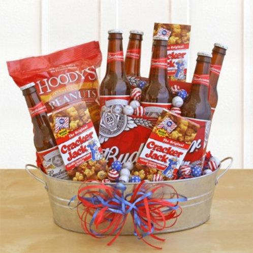 """""""Cracker Jack & Beer"""" Father's Day Basket"""
