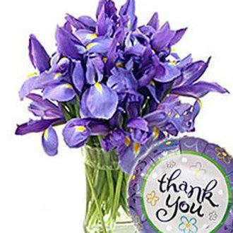 """Lavender Love"" Bouquet W/Balloon"