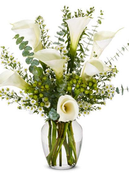 Calla Lilies -Sympathy Bouquet