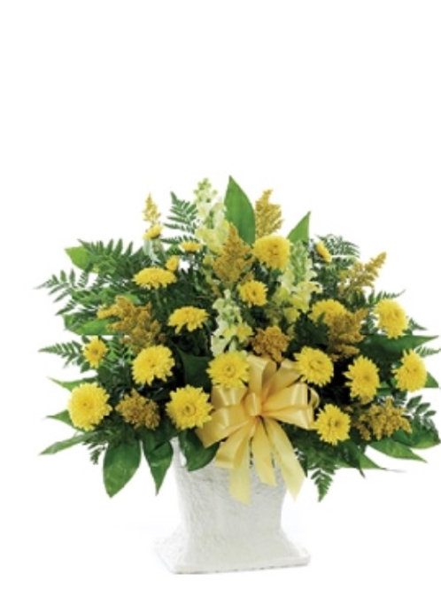 Yellow-Sympathy Spray Basket