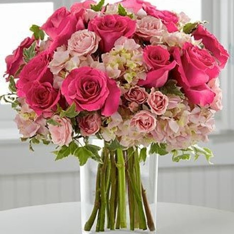 """Pink Rose"" Bouquet"
