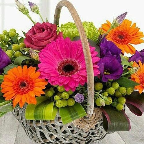 """Daisy Garden Basket"" Bouquet"