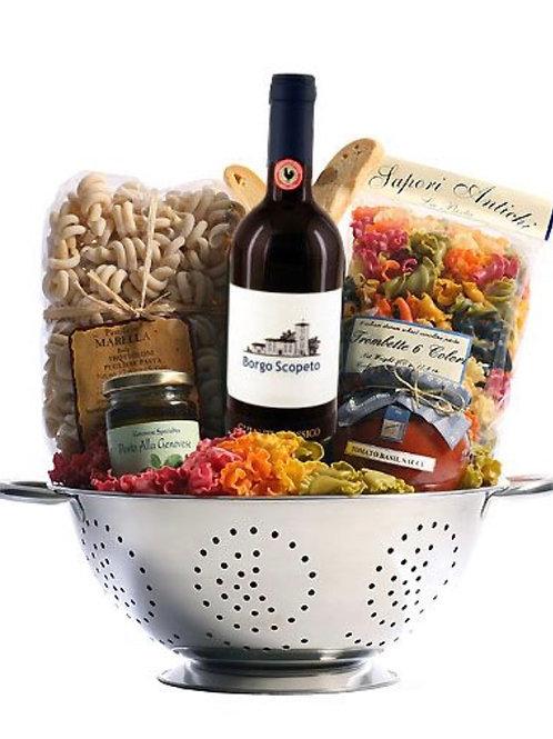 """Pasta & Wine"" Basket"