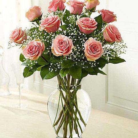 """""""Light Pink"""" Rose Bouquet"""