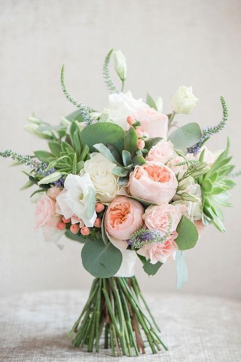 """Peach & Cream"" Wedding Bouquet"