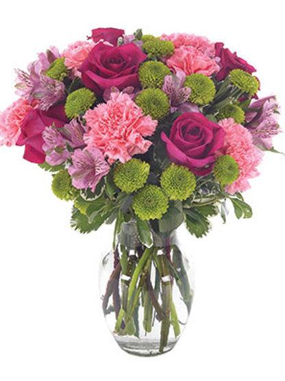 """""""Pink Mix"""" Carnation Bouquet"""