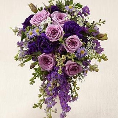 """""""Lavender"""" Garden Wedding Bouquet"""