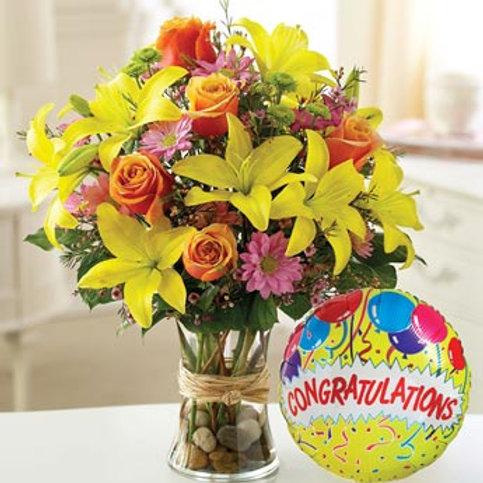 """Zing Mix"" Congrats Bouquet"