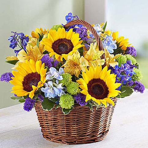 """Sunflower Basket"" Bouquet"
