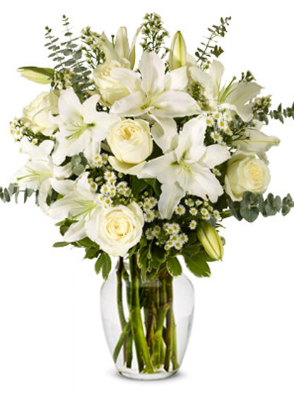 White -Sympathy Bouquet