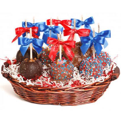 Patriot Candy Apple Basket