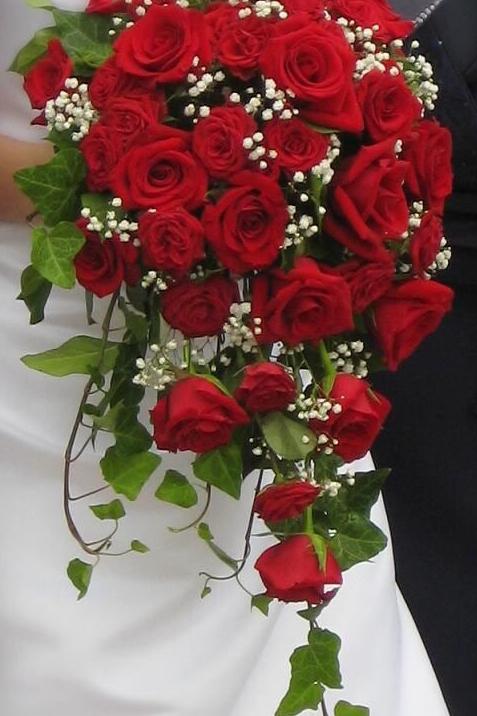 """""""Red Rose"""" Garden Wedding Bouquet"""