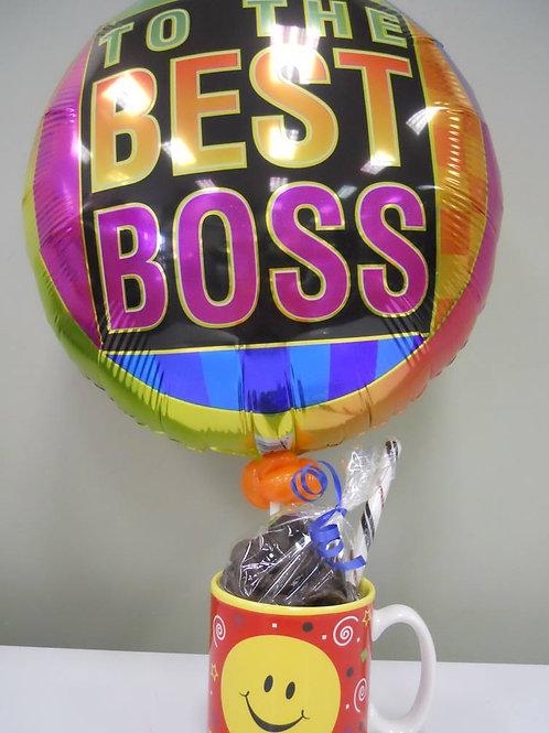 """Boss Mug""  Candy Selection W/Balloon"