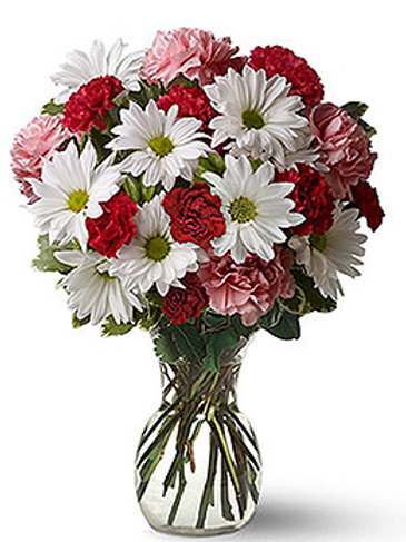 """Carnation-Daisy Mix"" Bouquet"