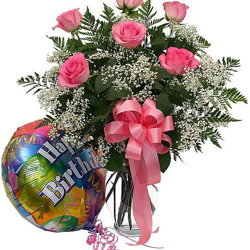 """Primrose"" Bouquet W/Balloon"