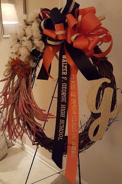 Monogram Circle of Life Wreath