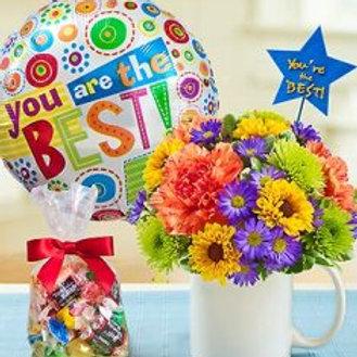 """""""Daisy Bloom"""" Bouquet W/Balloon"""