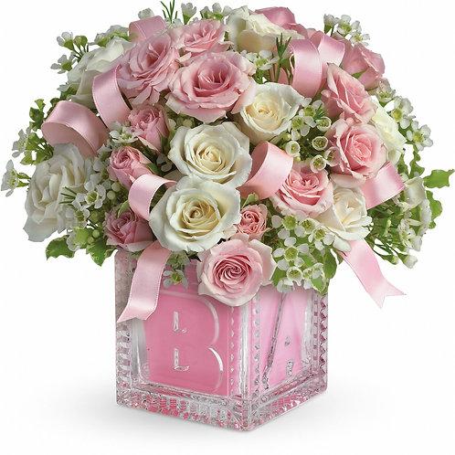 """""""Her First Block"""" Bouquet"""