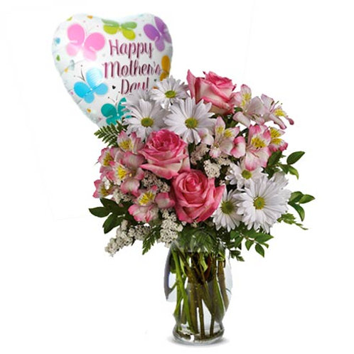 Mother's Day Daisy Bouquet/w Balloon