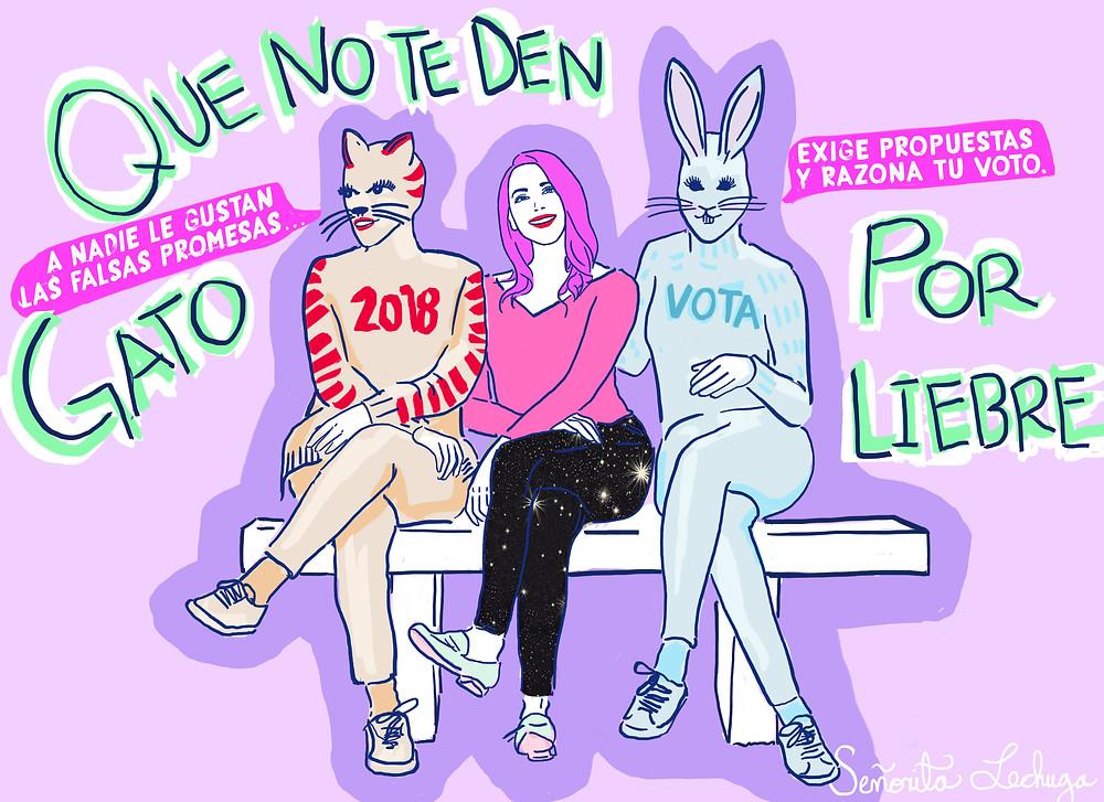Ilustración en colaboración con Newsweek Baja California