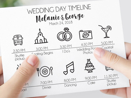 Tips to Creating The Ideal Wedding Day Timeline