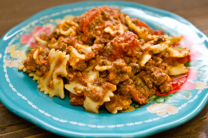 Beef & Cheese Pasta