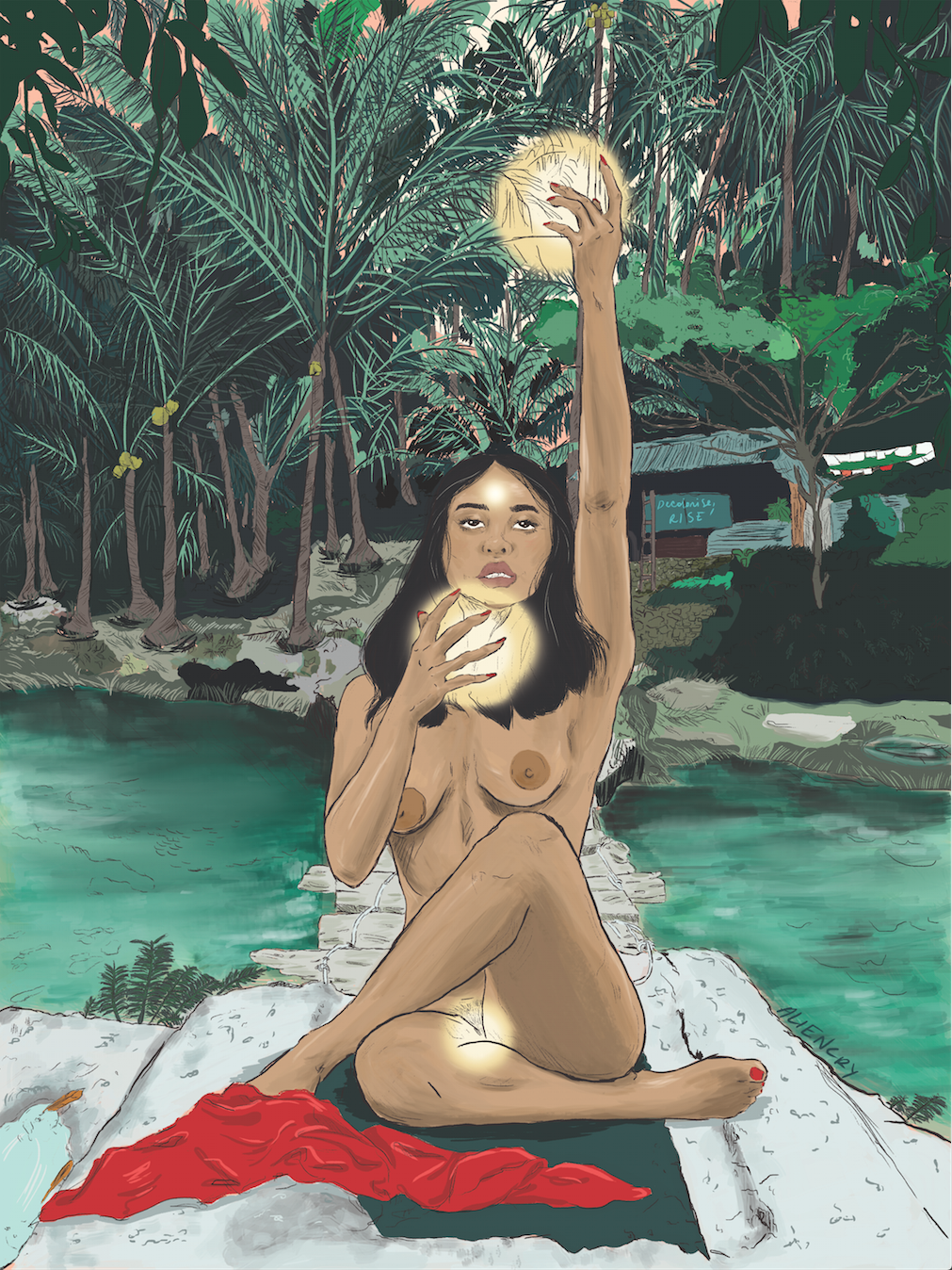 Island Woman Rise, Decolonise