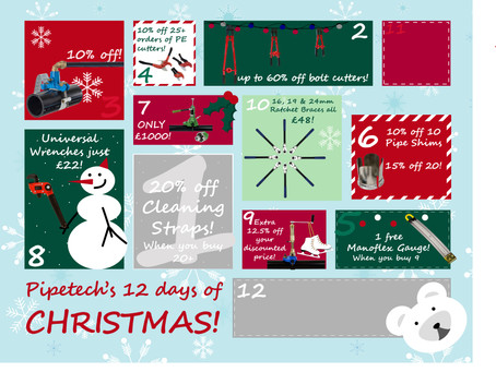 On the 10th day of Christmas, Pipetech gave to me...