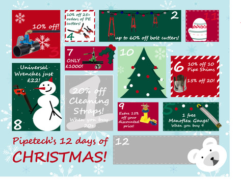 On the 9th day of Christmas, Pipetech gave to me...
