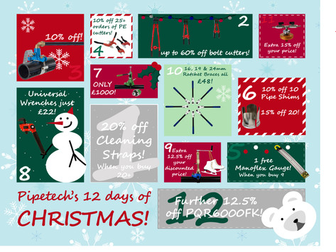 On the 12th day of Christmas, Pipetech gave to me...
