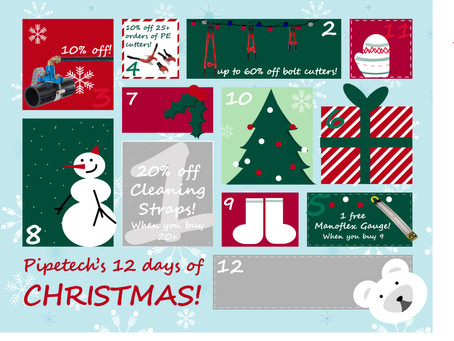 On the 5th day of Christmas, Pipetech gave to me...