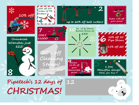 On the 11th day of Christmas, Pipetech gave to me...
