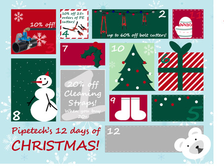 On the 4th day of Christmas, Pipetech gave to me...