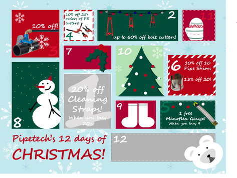 On the 6th day of Christmas, Pipetech gave to me...