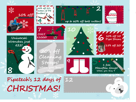 On the 8th day of Christmas, Pipetech gave to me...