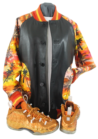 Sunset foams custom sneakers and jacket