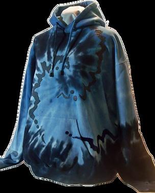 Blue print custom hoodie