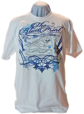 Blue print custom tee shirt
