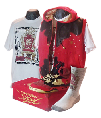 Blood of a king custom sneakers and clothing