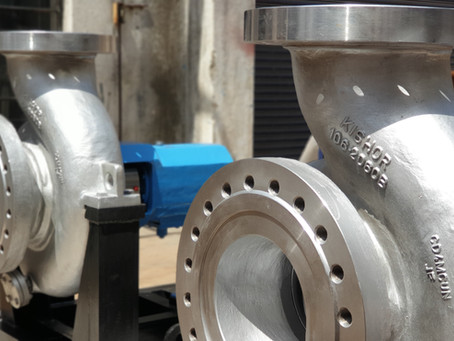 End suction single stage high pressure pumps for hydrogenation plant operating at 180 degree Celsius